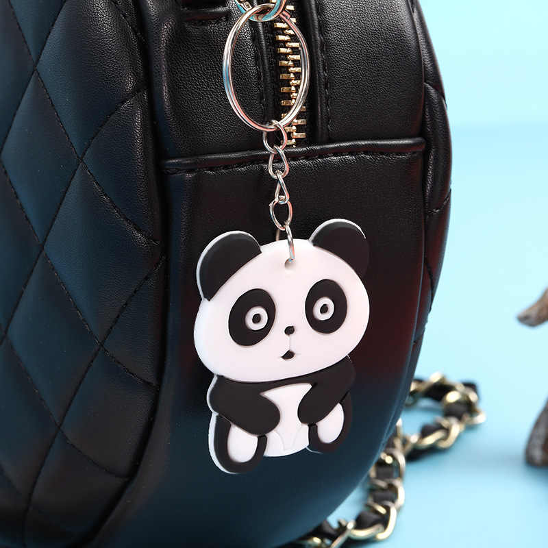 """Аниме милый силиконовый брелок для ключей брелки для ключей """"Животные"""" цепь кольцо сумка Шарм ключ подарок для женщин подвеска Подвески из ПВХ ключ рождественские украшения"""