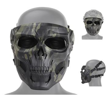 Airsoft Paintball Skull Tactical Mask Outdoor Sports Motorcycle Cycling Shooting Hunting Mask Men Women Cs Military Masks