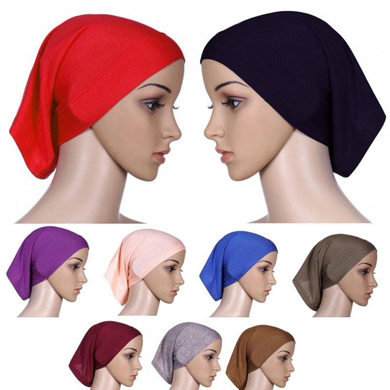 Muslim Women Scarf National Ramadan Hair Accessories Turban Decorative Cotton Cap Hijab Caps Fashion Sun Protection Beach