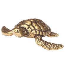 1pc Brass Tortoise Figurine Statue Collectible Decorative Antique Animal