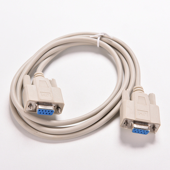 1PC 1.5M Serial RS232 Female to Female Null Modem Cable DB9 FTA Cross Connection 9 Pin COM Data Cable Converter Extension Cord db9 9 pin male to female rs232 serial cable directly connected com extension cable for computer printer scanner