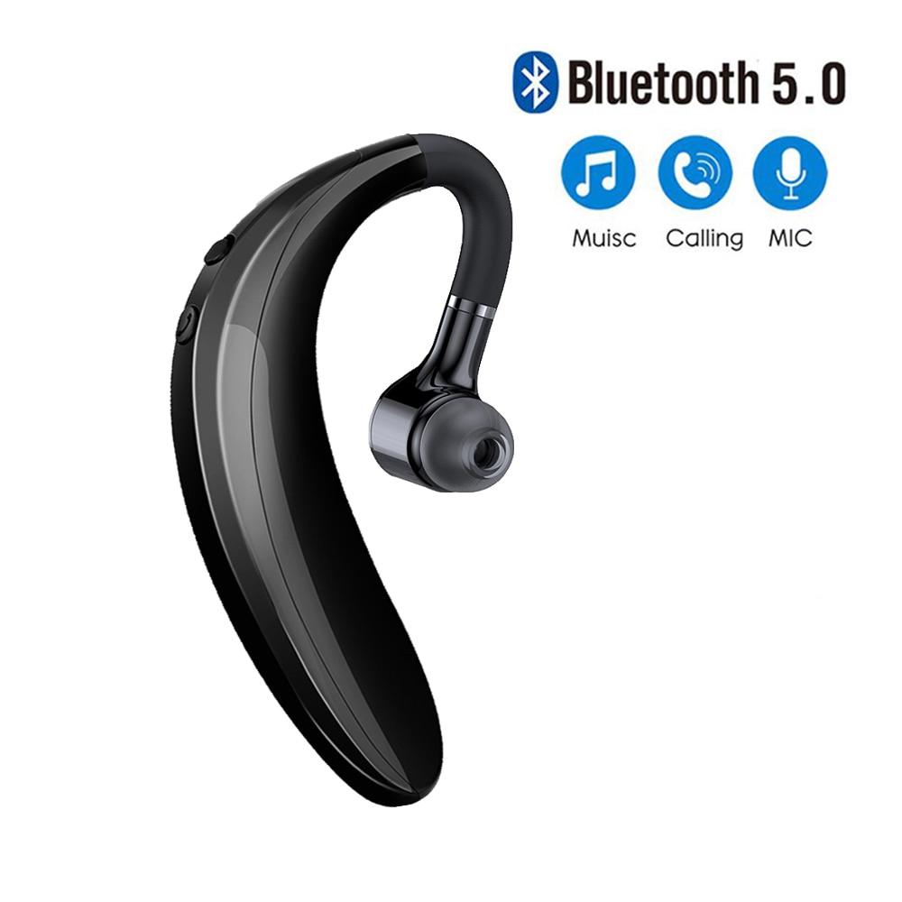 Наушники Bluetooth 5,0, наушники, гарнитура с вкладышами, беспроводная гарнитура для вождения, звонков, спортивные наушники с микрофоном для всех ...