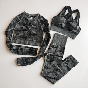 3PCS Camo Seamless Yoga Set Sp
