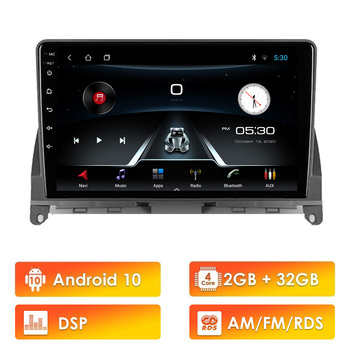 For Mercedes Benz C Class 3 W204 S204 2006 - 2011 2 din Car Multimedia Player Android 10 DSP RDS Wifi Navigation GPS Autoradio image