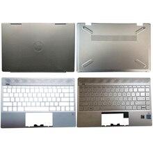 Original For HP Pavilion 13-AN series 13-AN0003TU 13-AN0076TU Laptop LCD Back Cover/Palmrest/Bottom Case Sliver TPN-Q214