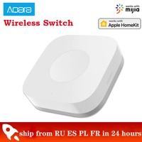 Xiaomi-miniinterruptor inalámbrico Aqara Zigbee, conexión versátil con 3 botones de Control de vía para dispositivos inteligentes de casa que funcionan con Mi hr Mihome