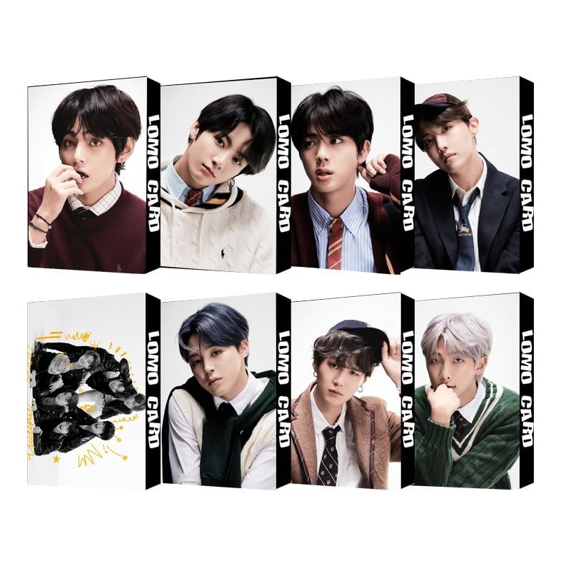 K Pop Bangtan Boys Kawaii Single Collective 2020 New Black Swan LOMO CARD Kpop Photocards Stray Kids Kpop
