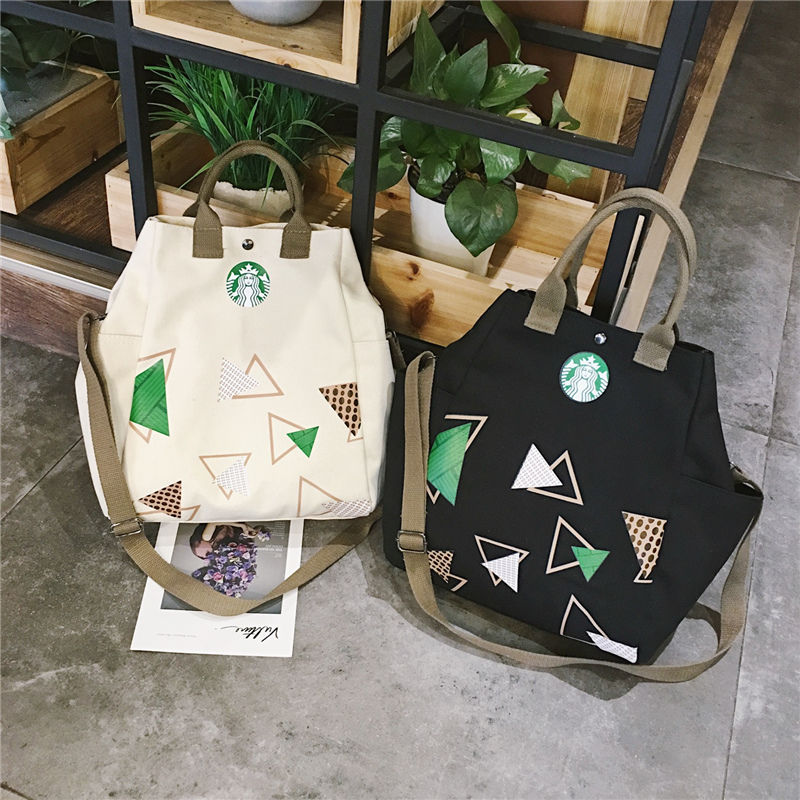 Canvas Handbag New European And American Fashion Literary Handbag Canvas Bag  For Women 2019 Starbucks Handbags Casual Shoulder