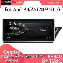 Automóvel estereofônico da navegação de gps do jogador de rádio de dvd dos multimédios do carro de android 10 para a movimentação direita do sistema de audi a4/a5 (2009-2017) 2g