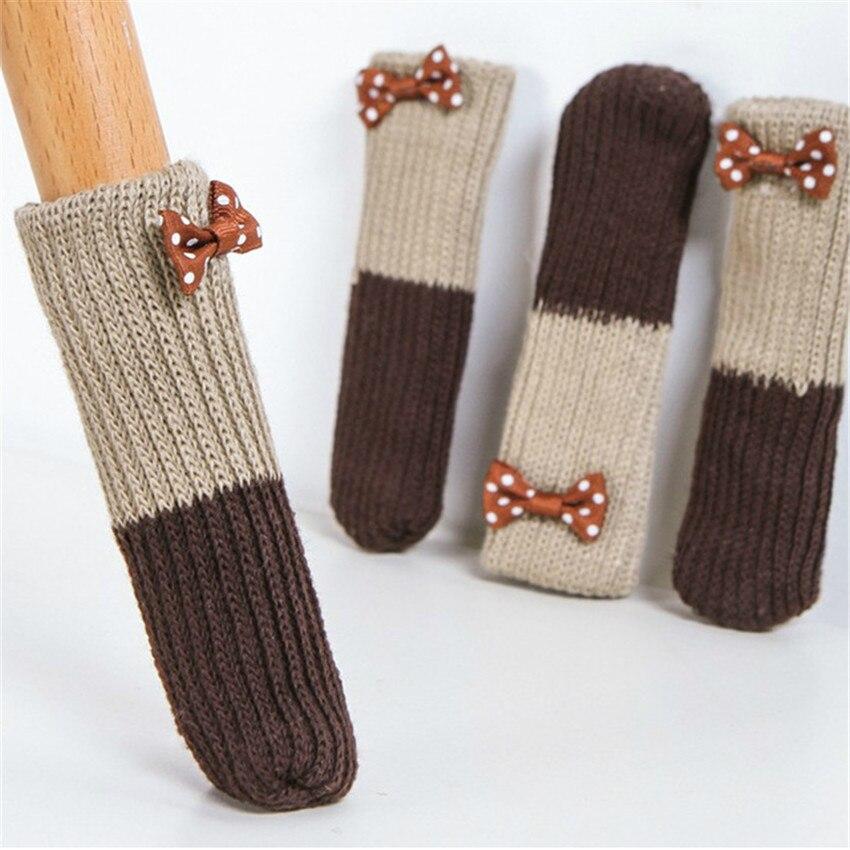 4 шт./компл. чехол на ножки мебели с бантом, защитный коврик для пола, Нескользящие ножки для стола, протекторы для ножек стула, табурета|Мебельные ножки| | АлиЭкспресс