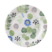 10pcs Spring Green Leaves Paper Plates Disposable Party Tableware Xmas Dessert Cake Plate 9