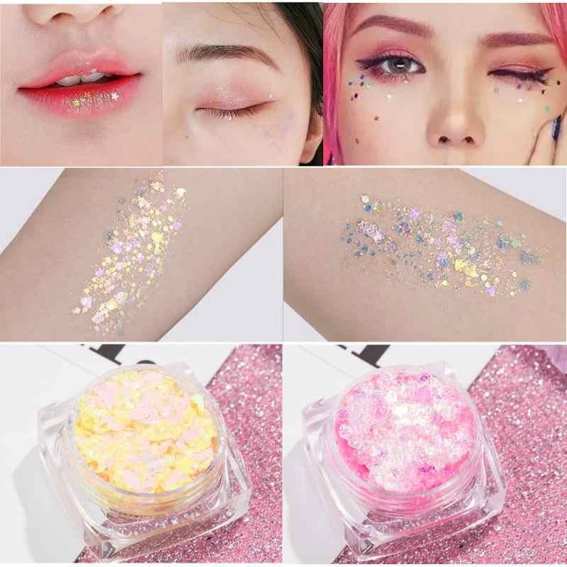 12 צבע גליטר שמר פנים תכשיטים פיגמנט גוף פנים עין גליטר נצנצים ג 'ל קרם עיניים מבריקים Skinface נצנצים גוף נצנצים TSLM1
