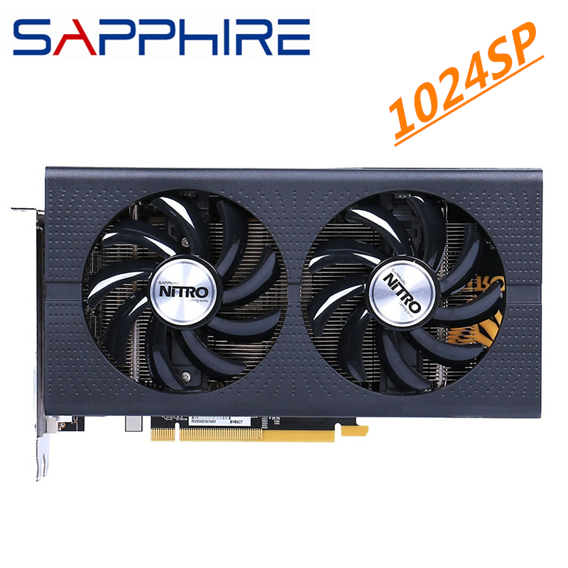 SAPPHIRE RX 460 4GB 1024SP Graphics Cards GPU AMD Radeon RX 460 Nitro + Screen Video Cards Computer Map HDMI Not Mining