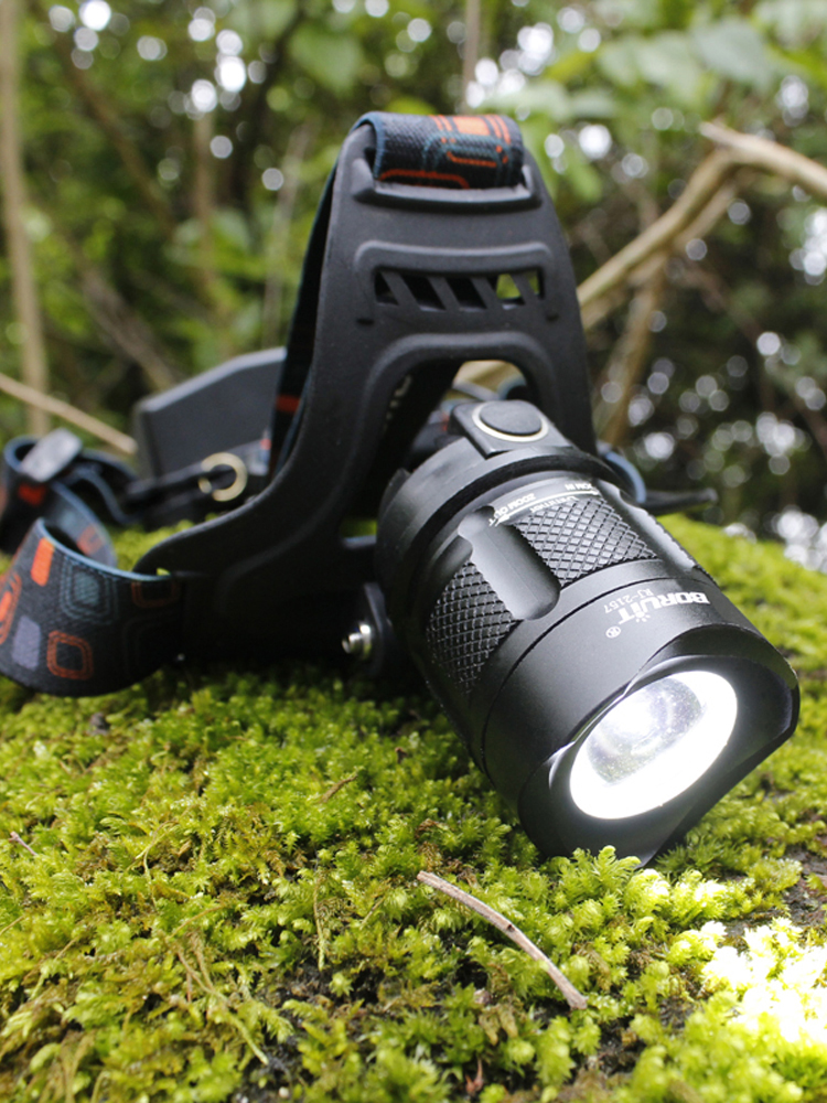 Boruit LED Headlamp Torch Power-Bank Rechargeable XM-L2 18650 Zoom-Head 5000LM RJ-2157