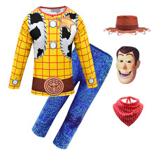 Ts4 crianças roupas de halloween trajes para meninos woody cosplay carnaval festa conjuntos roupas da criança das crianças roupas de natal