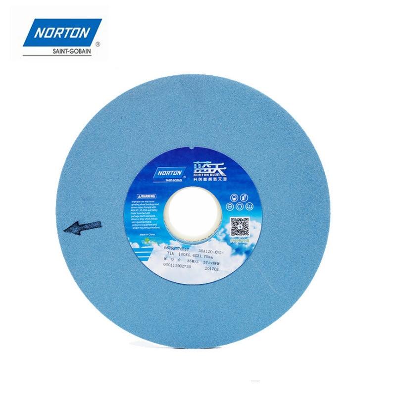 NORTON Genuine Product Blue Sky Grinding Wheel 180X12.7X31.7 White Corundum Flat Grinding Machine Tool Grinding Wheel