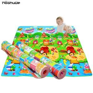 Image 1 - 1 センチメートル 0.5 センチメートル厚いベビークロール教育アルファベットゲーム敷物子供のためのパズル活動ジムカーペット Eva 泡子供のおもちゃ