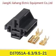 Бесплатная доставка 200sets DJ7051A-6.3/9.5-21 кабель 5pin усилителя авто электрический провод разъемы для VW,БМВ,Ауди,Тойота,Ниссан
