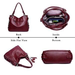 Image 5 - Bolso de mano de cuero para mujer, bandolera de diseñador para mujer, Bolsa femenina, bolsos de hombro, 2020