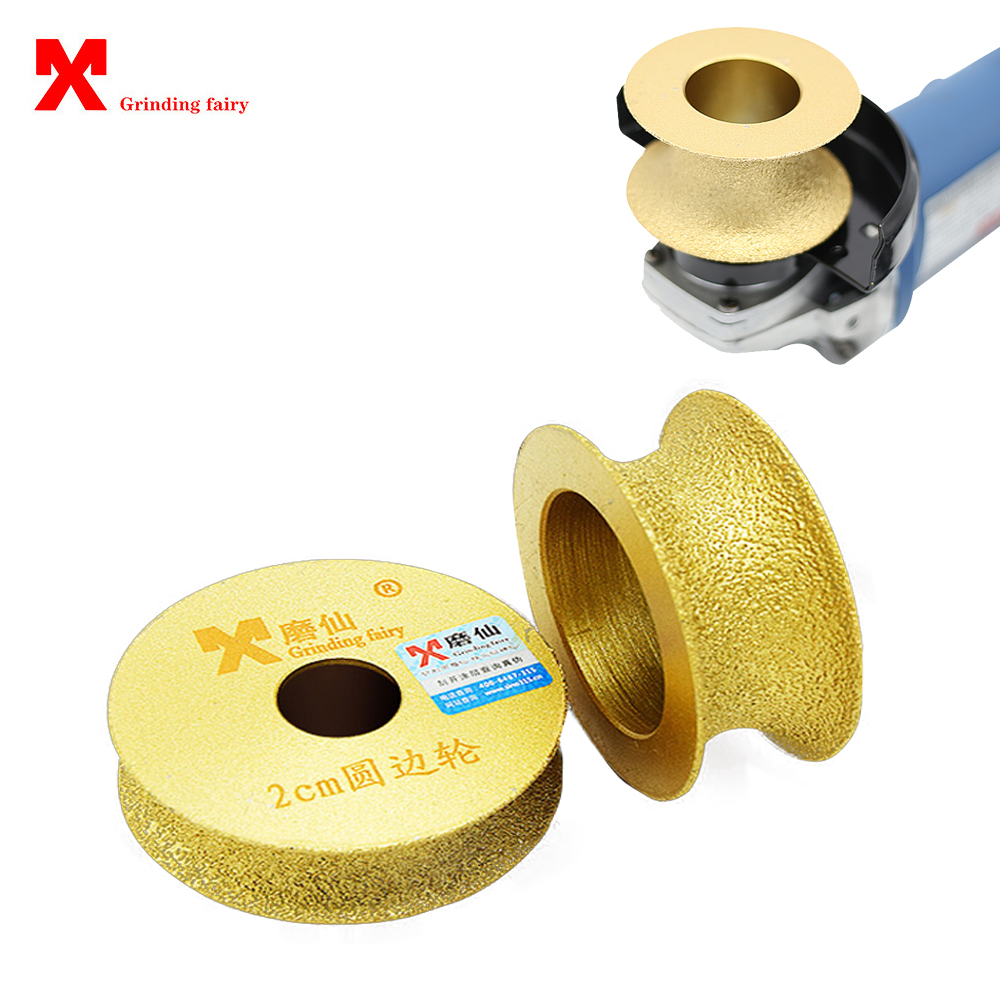 MX Brazed Diamond Angle Grinder Stone Grinding Wheel Semi-circular Edging Round For Glass Ceramic Marble Artificial Stone Edging