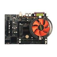 Moederbord CPU Set Met Quad Core 2.66G CPU i5 Core + 4G Geheugen + Fan ATX Desktop Computer moederbord Monteren Set op