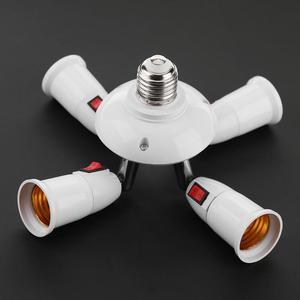 Image 5 - E27 ספליטר 3/4 ראשי מנורת בסיס מתכוונן LED אור הנורה מחזיק מתאם ממיר שקע אור הנורה