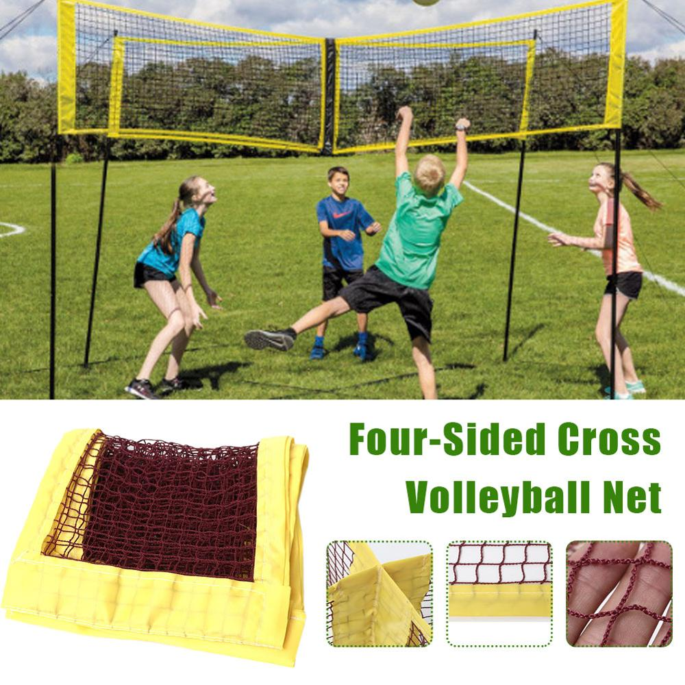 Professional Outdoor Parent-Child Toy Volleyball Net 4 IN 1 Volleyball Net Four-Sided Cross Four-Sided Beach Volleyball Net