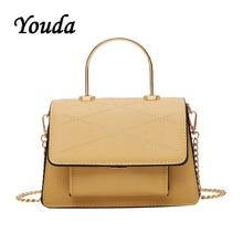 Youda New 2019 Summer Fashion Simple Classic Handbag Solid Color Retro Sweet Shoulder Bag Chain Strap Original Crossbody Tote