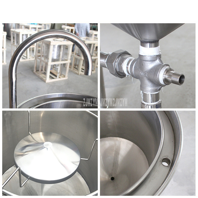 25kg Washing Capacity Automatic Stainless Steel Rice Washing Machine Commercial Large Water Pressure Rice Washer For Restaurant 6