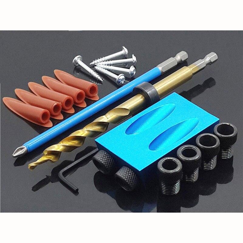 Stencil con viti per foratura attrezzi da carpenteria Pocket Jig Drill Guider,Wooden Jig Kit,Pocket Hole Jig 6//8//10//12 mm