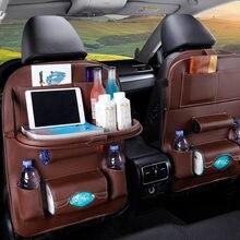 1PC PU Leder Auto Sitz Zurück Lagerung Hängen Tasche Multi-funktionale IPad Mini Halter Universal Rücksitz Organizer für Kinder Lagerung