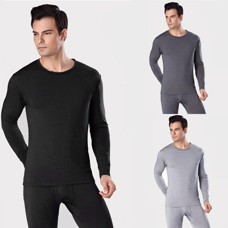 Men's Soft Velvet Thermal Underwear Thick Sanded Suit