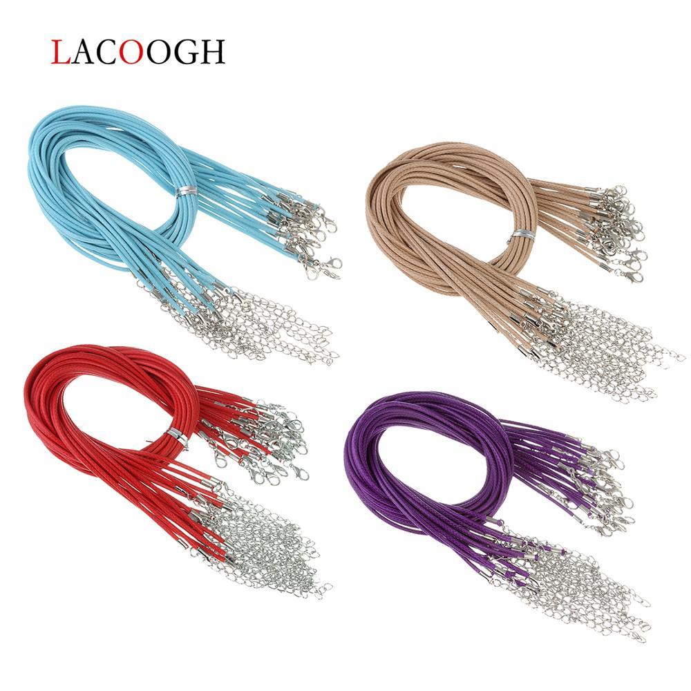 Модные Вощеные застежки для ожерелий 20 шт/лот диаметр 15 мм