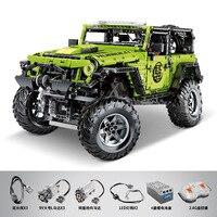 New Motor RC Scale 1:8 Wrangler Rubicon Jeeps Compatible Technic Building lepinbricks Blocks Bricks Educational model Toys gifts