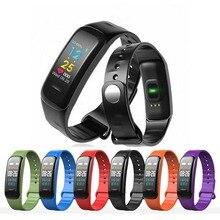 Wristband C1 Plus Color Screen Smart Bracelet Blood Pressure Band Heart Rate Monitor Fitness Tracker erkek kol saati