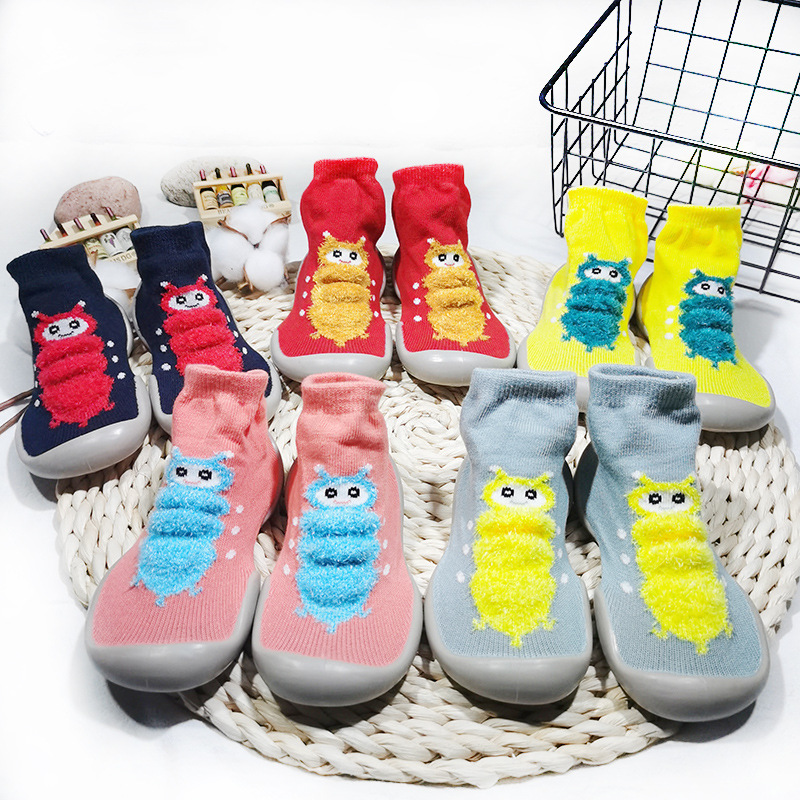 Baby Toddler Shoes Anti-Slip Baby Socks With Rubber Soles Winter Warm Stockings Cartoon Comfortable Baby Shoes