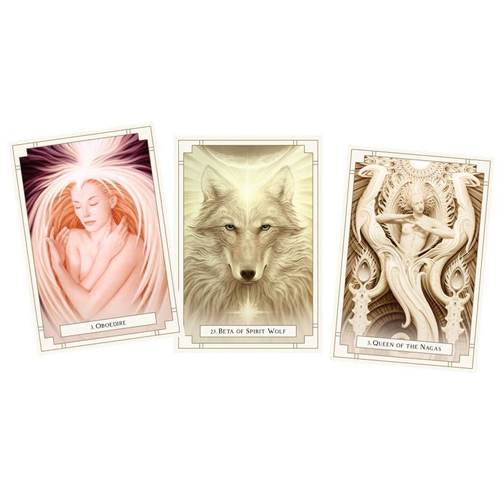 White Light Oracle Divination Fate Tarjetas Tarot Tarjeta Deck Games Supplies Party Supplies Fate Previsasting Tarjetas Juego