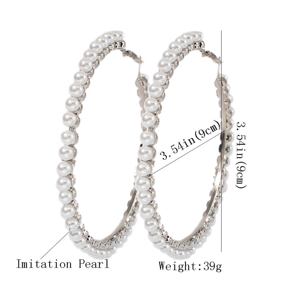 90mm Silver Earrings