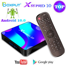 X88 PRO 10 Android 10 TV Box RockChip RK3318 BT4.0 USB3.0 4K TVBOX 2.4G 5G Dual Wifi Youtube Media Player Set Top Box 4GB 64GB