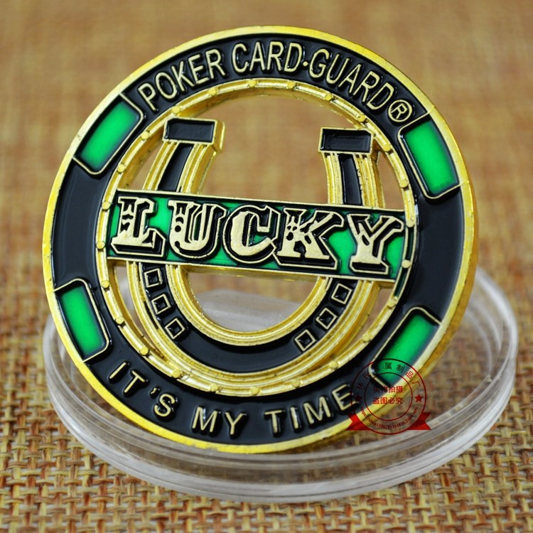 America Challenges Hollow out Chips Props Poker Card Guard LUCKY Commemorative Coins Color Baking Varnish Metal Souvenir Medal-1