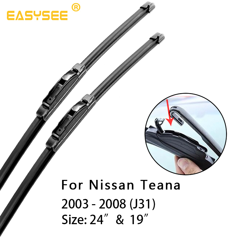 Windscreen windshield Wiper Blades for Nissan Teana J31 J32 L33 Fit Hook Arms Car Model Year From 2003 to 2017 2018 2019 image
