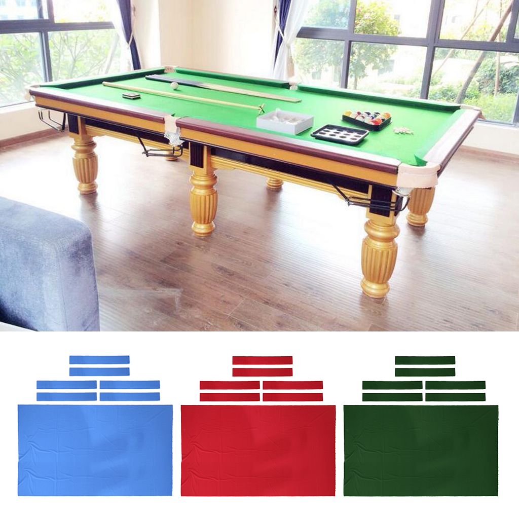 Pool Table Felt - Billiard Cloth Replacement - for 8 Foot Table - Perfect for the Casual Player - 3 Colors