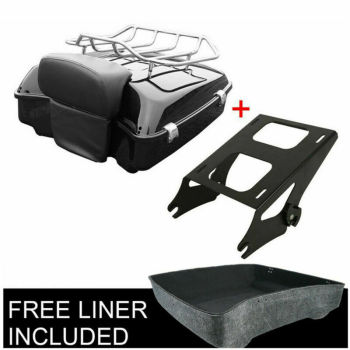 Motorcycle Chopped pack trunk Backrest Rack  For Harley tour pak Touring Models Road King Glide Electra Street FLHT 14-20 motorcycle painted chopped tour pak pack trunk fit for harley touring road king electra glide flht fltr 1997 2013
