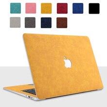 Чехол из искусственной кожи для Apple MacBook Pro Retina 13,3 Air 13 15 16 11 12 дюймов, 2020 Новый A1932 A2289 A2141, кожаный чехол