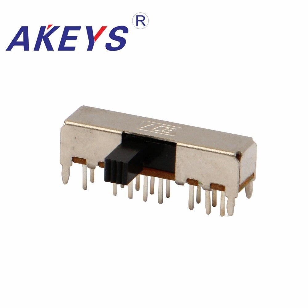 10pcs MSS-22D18 DPDT 6 Pin Toggle Vertical Mini Slide Type DIP Switch ML