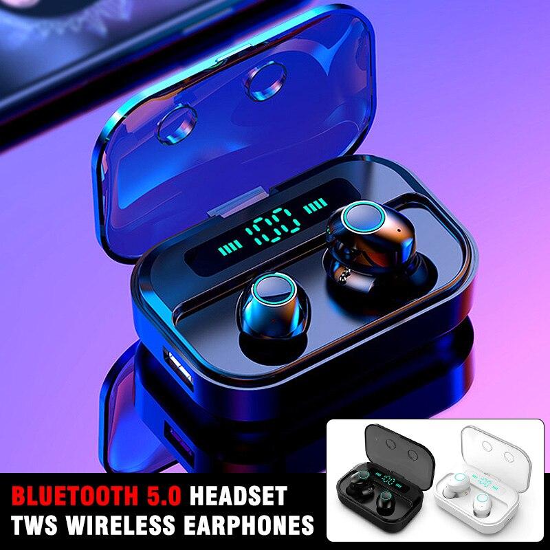 1 пара, Bluetooth 5,0, гарнитура, TWS, беспроводные наушники, мини, гарнитура, наушники, стерео, беспроводная гарнитура, наушники