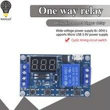 6-30V Circuito Interruptor Módulo de Relé de Atraso de Tempo de Disparo Temporizador Ciclo Gatilho Ajustável OFF / ON Interruptor Ciclo de Temporização para Arduino