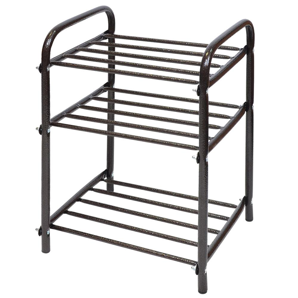 New Multi-layer Shoe Rack Aluminum Metal Standing Black Shoe Rack DIY Shoes Storage Shelf Home Living Room Organizer
