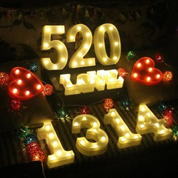 21/16CM Style Alphabetic LED Light Bulb Decoration Wedding Party Display Nightlights Christmas Gift Decoration