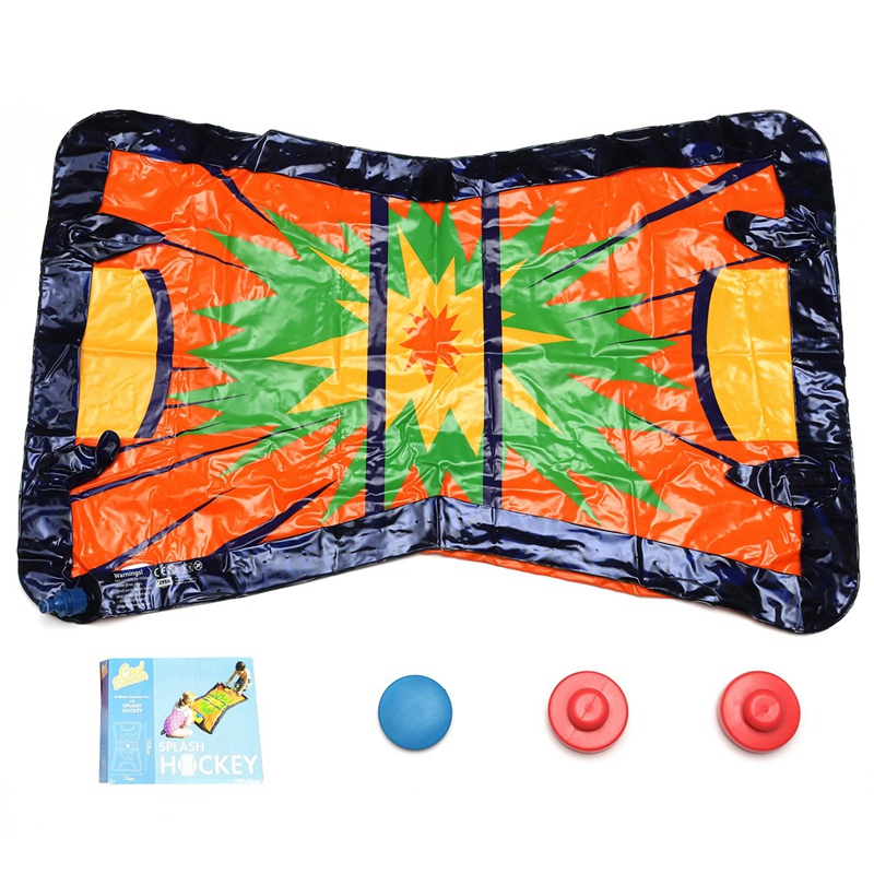 Summer Outdoor Pvc Children'S Water Spray Blanket Inflatable Water Spray Ice Hockey Blanket Children'S Toys Outdoor Children Int